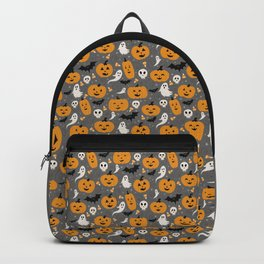 Pumpkin Party in Gray Backpack