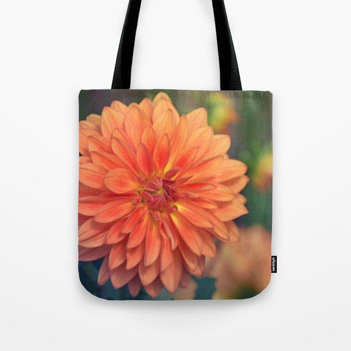 Golden orange dahlia  Tote Bag