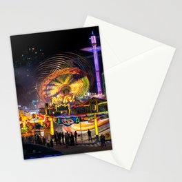 Fairground Attraction panorama Stationery Cards