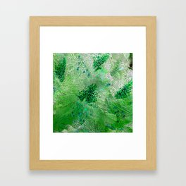 Green Lace Azalea Abstract  Framed Art Print