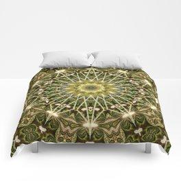Geometric Forest Mandala Comforters