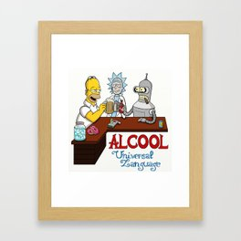 Alcool Langage Universel c Framed Art Print