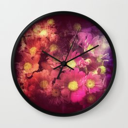 Flowers for someone / Vintage Flowers Wall Clock