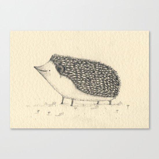 Monochrome Hedgehog Canvas Print