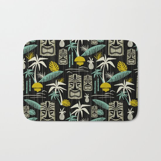Island Tiki - Black Bath Mat