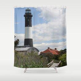Walkway To Fire Island Lighthouse Shower Curtain