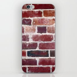 Red Brick Wall Photograph iPhone Skin