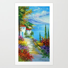 Midday by the sea Art Print