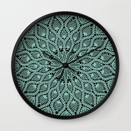 Delicate Teal Wall Clock