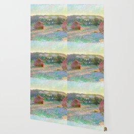 Stacks of Wheat (End of Summer) - Claude Monet Wallpaper