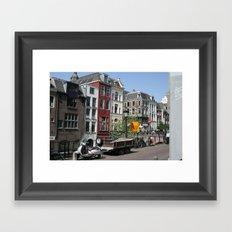 Photograph of Dutch city Utrecht a typical old city heart of the Netherlands Framed Art Print