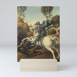 Raphael - Saint George and the Dragon Mini Art Print