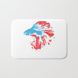 Betta Splendens Shirt Bettas Siamese Fighting Fish Gift Bath Mat