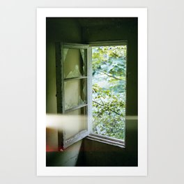 Window Light Leak Art Print