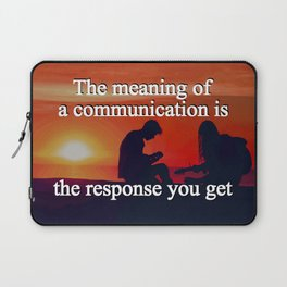Meaning of a Communication Laptop Sleeve