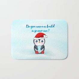 Christmas - Do you wanna build a snowman? Bath Mat