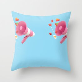 Spreading sweetness Throw Pillow
