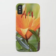 Orange Lily iPhone X Slim Case