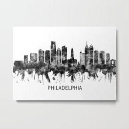 Philadelphia Pennsylvania Skyline BW Metal Print