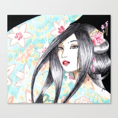 Geisha Glance Canvas Print
