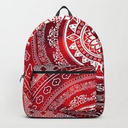 Mandala Scarlet Destiny Spiritual Zen Bohemian Hippie Yoga Mantra Meditation Backpack