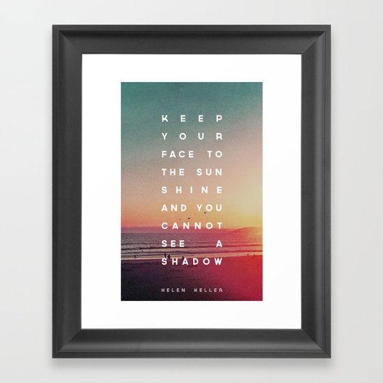 Face to the Sunshine Framed Art Print