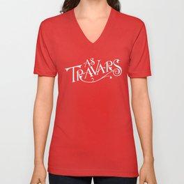 As Travars - to travel (white) Unisex V-Neck