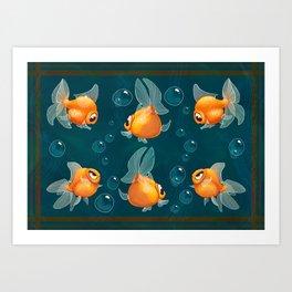 Goldfishs Art Print