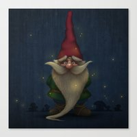 gnome Canvas Prints featuring Gnome by Jordygraph