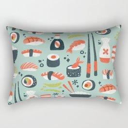 Sushi Dreams – Mint Rectangular Pillow