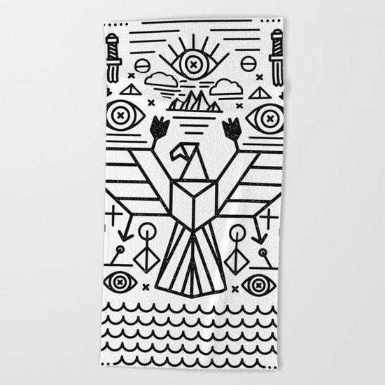 Secret Eagle Beach Towel