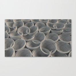 White spiraled coils Canvas Print