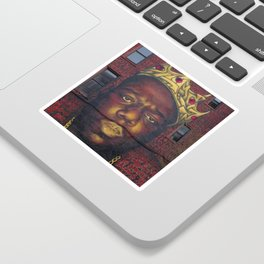 "African American 'King of New York', Bedford–Stuyvesant ""Biggie"" Mural Photograph Sticker"