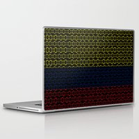 colombia Laptop & iPad Skins featuring digital Flag (Colombia) by seb mcnulty