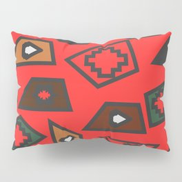 Geometric festival in red Pillow Sham