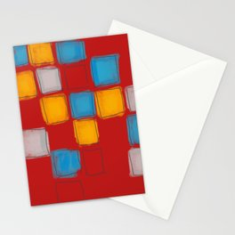Primary Squares Stationery Cards