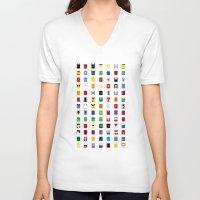 minimalism V-neck T-shirts featuring Minimalism SH by Fabian Gonzalez