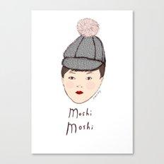 Moshi Moshi - White and Pink Canvas Print