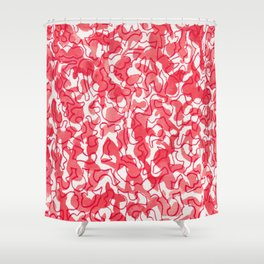 Pink Painting Shower Curtain