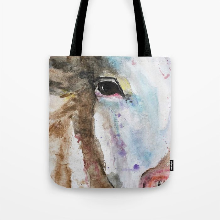 Spotted Farmhouse Cow Tote Bag