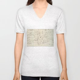 Vintage Map of The World Whaling Grounds (1880) Unisex V-Neck