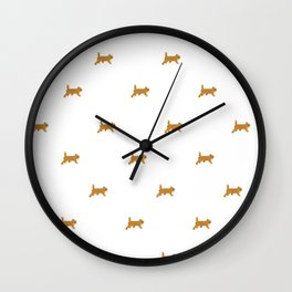 Ginger kittens Pattern Wall Clock