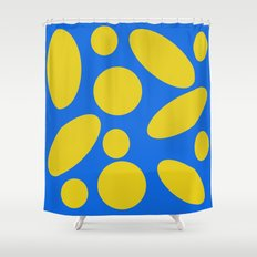 Blue and Yellow Spheres #1 Shower Curtain