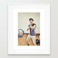louis tomlinson Framed Art Prints featuring Louis Tomlinson by Haley Nicole
