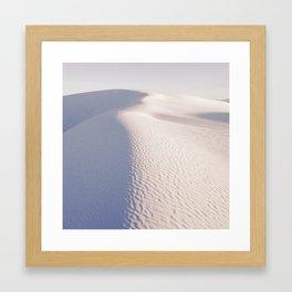 White Sands of Gypsum Framed Art Print
