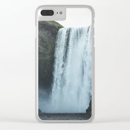 Skógafoss Clear iPhone Case