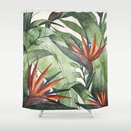 Tropical Flora I Shower Curtain