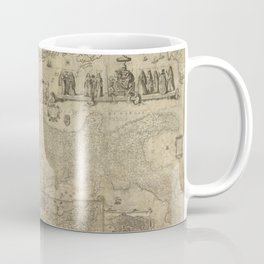 Vintage Map Print - 1630 map of Italy by Matthaeus Greuter, published in 1657 by Stefano Scolari Coffee Mug
