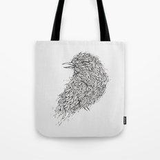 Grey Bird Illustration Tote Bag