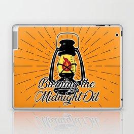 Midnight Oil - Orange Laptop & iPad Skin